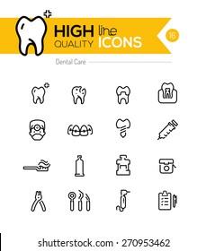 Dental Care line icons series