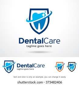 Dental Care Logo Design Template