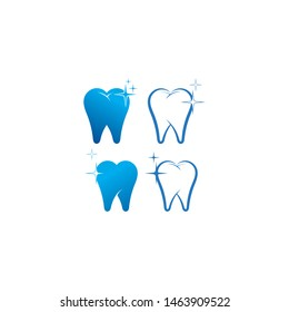 Dental care logo and symbols template icons app