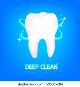 Dental care Tooth Concept. Illustration icon design.