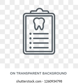 Dental Checkup icon. Trendy flat vector Dental Checkup icon on transparent background from Dentist collection. High quality filled Dental Checkup symbol use for web and mobile