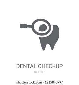 Dental Checkup icon. Trendy Dental Checkup logo concept on white background from Dentist collection. Suitable for use on web apps, mobile apps and print media.