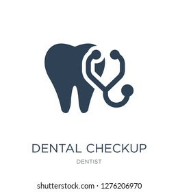 dental checkup icon vector on white background, dental checkup trendy filled icons from Dentist collection, dental checkup vector illustration