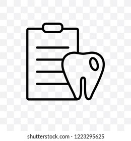 Dental Checkup vector linear icon isolated on transparent background, Dental Checkup transparency concept can be used for web and mobile