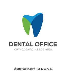 Dental Clinic Logo Design Dentist Logo Tooth abstract Linear Dentist stomatology