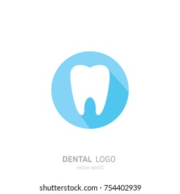 Dental Clinic logo. Heals teeth icon. Dentist office. Vector flat illustraton