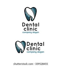 Dental clinic logo. Set logotype for stomatology.