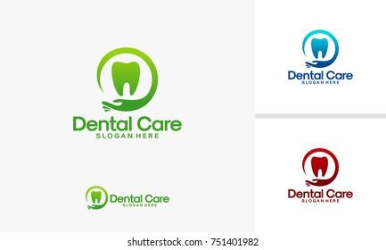 Dental Clinic logo template, Dental Care logo designs vector