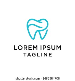 Dental Clinic Logo Tooth abstract design vector template Linear style. Dentist stomatology medical doctor Logotype concept icon. Initial FR design template.