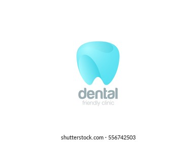 Dental Clinic Logo Tooth abstract design vector template. Dentist stomatology medical doctor Logotype concept icon.