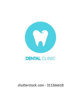 dental clinic vector logo tooth icon