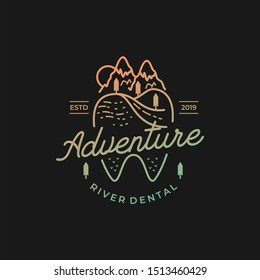 dental with the concept of the Monoline Mountains logo