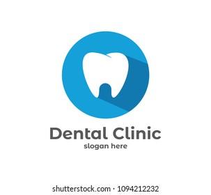 dental dentistry vector icon symbol logo design template