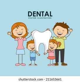 dental design over blue background vector illustration