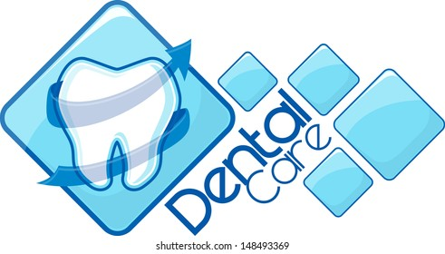dental design, vector format very easy to edit, individual objects, no gradients, only solid colors, custom typography created by my