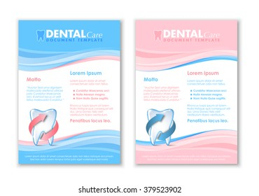Dental document templates with protected tooth icon