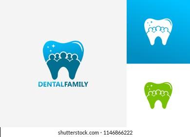 Dental Family Group Logo Template Design Vector, Emblem, Design Concept, Creative Symbol, Icon