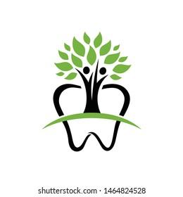 Dental family people care logo vector