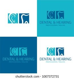 Dental & Hearing, Audiology Logo and Icon - Vector Illustratio