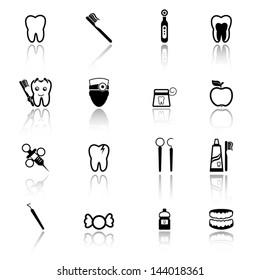 Dental icon set