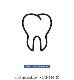 dental icon vector illustration template