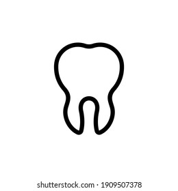 Dental icon vector. Tooth icon in trendy flat design