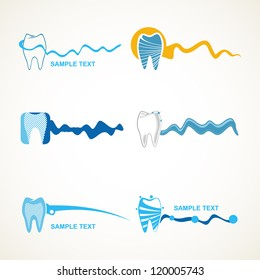 Dental icons.