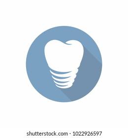 Dental Implant logo icon. Vector