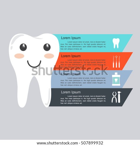 Dental Infographic Infographic Template Design Teeth Stock Vector