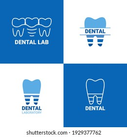 Dental laboratory logo isolated on white background. Tooth logo for dental clinic.