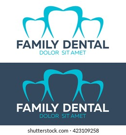 Dental logo and clinic. Dentist Logo. Vector logo