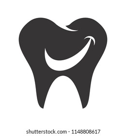 Dental logo. Dentist Icon. Orthodontic symbol. Vector eps 08.