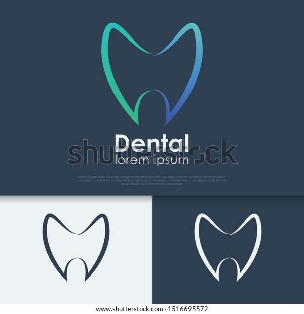 Dental Logo Design Template Black White Stock Image Download Now