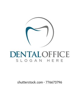 Dental logo design template vector illustration