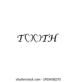 Dental logo. Dental Logo Icon Isolated On White Background