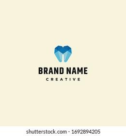 Dental logo template design in Vector illustration