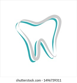 Dental Logo. Tooth Symbol. Icon Vector Eps 10.