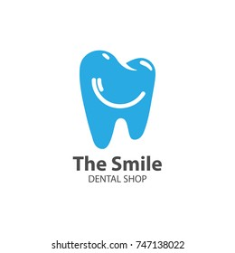 Dental logo with toothbrush shaped as a smile. Vector 10 EPS.