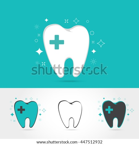dental logos templates abstract vector teeth stock vector royalty