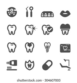 dental and medical icon set, vector eps10.
