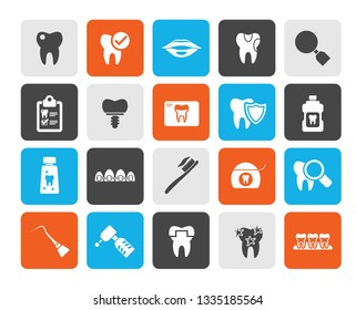 dental medicine and dentistry tools icons  - Vector Icon set