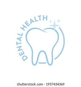 Dental Office Logo, Dental Health, Dental Cleaning, Teeth Icon, Tooth Icon, Mouth Hygiene, Dental Teeth Graphic, Vector Illustration Background