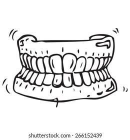Dental Prosthesis Doodle