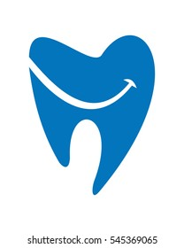 Dental smile logo vector