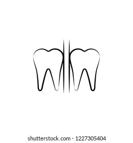 dental, tooth icon. Element of dantist for mobile concept and web apps illustration. Hand drawn icon for website design and development, app development