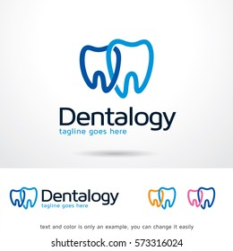 Dentalogy Logo Template Design Vector
