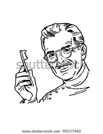 dentist 2 retro clipart illustration stock vector royalty free Dental Hygiene Student dentist 2 retro clipart illustration