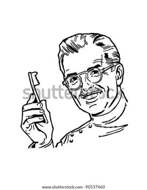Dentist 2 - Retro Clipart Illustration