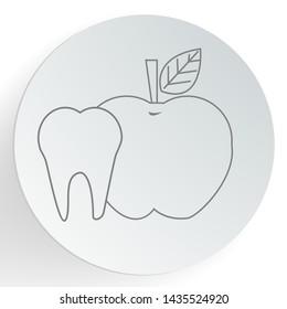 Dentist apple icon. Dental care concept. vector illustration.