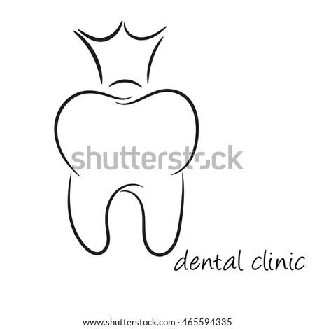 Dentist logo design template tooth creative stock vector royalty dentist logo design template tooth creative symbol maxwellsz